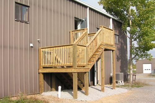 5) DECKS: Treated Stairway (1 of 2)